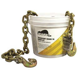 Grade 70 Load Chain Kit with Winged Grab Hooks Each End 9m