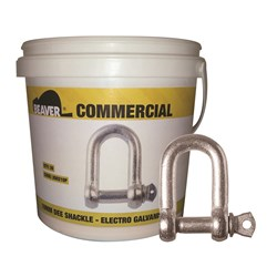 Shackle Dee Commercial 8mm Electro Galvanised  Each Pail contains 40 Each