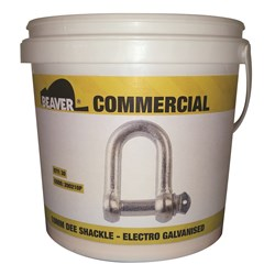 Shackle Dee Commercial 10mm Electro Galvanised  Each Pail Contains 30 Each