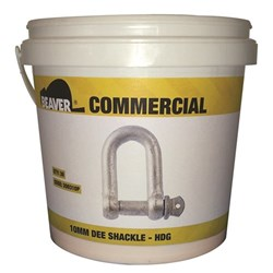 Shackle Dee Commercial 5mm Hot Dipped Galvanised  Each Pail Contains 50 Each