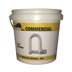 Shackle Dee Commercial 6mm Hot Dipped Galvanised Each Pail Contains 50 Each