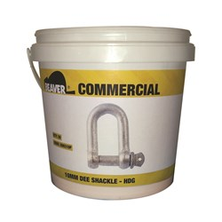 Shackle Dee Commercial 10mm Hot Dipped Galvanised  Each Pail Contains 30 Each
