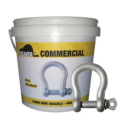Shackle Bow Commercial 6mm Hot Dipped Galvanised  Each Pail Contains 50 Each