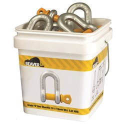 Shackle Dee Grade S Galvanised  6x8mm WLL 0.5T  Each Pail Contains 100 Each