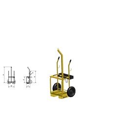Oxygen / Acetylene Gas Bottle Trolley