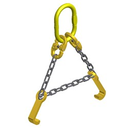 Drum Lifting Sling Assembly with Oblong Link