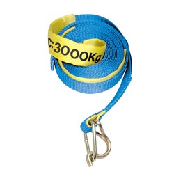 Cargo Winch Polyester Replacement Strap with 2 Wear Sleeves, LC: 3000-3500kg