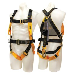 Harness with Front & Rear Fall Arrest Attachment Points - 2MTR Integrated Lanyard
