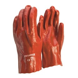 Glove Frontier Red PVC single dipped