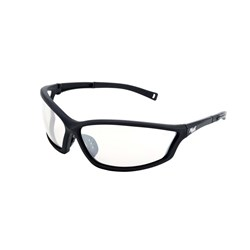 Mack Safety Spec - Stealth - Black Nylon Frame - Clear Mirror Lens