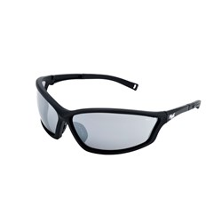 Mack Safety Spec - Stealth - Black Nylon Frame - Smoke Mirror Lens