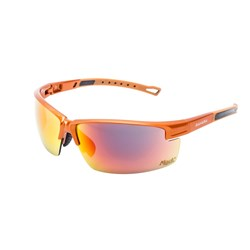 Mack Safety Spec - Sahara - Burnt Orange Frame - Red Revo Mirror Lens