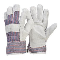 Candy Stripe Leather Work Gloves (Pack of 12)