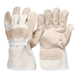 Pigskin Reinforced Leather Work Gloves (Pack of 12)