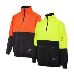 Long Sleeve Polyester Fleece Zip Jumper