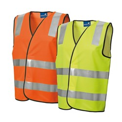 Assorted 10 Pack Polyester Open Front Vest