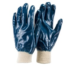 Glove Frontier Full Dip Nitrile on Cotton Blue