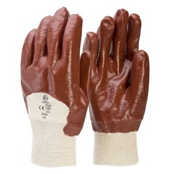 Gloves-PVC Knit Wrist Single Dip L (Pack Of 12)