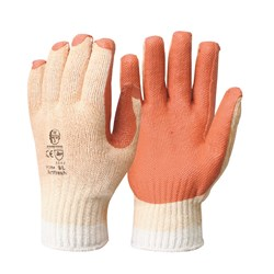 Glove - Orange Latex Coated L   (Pack of 12)