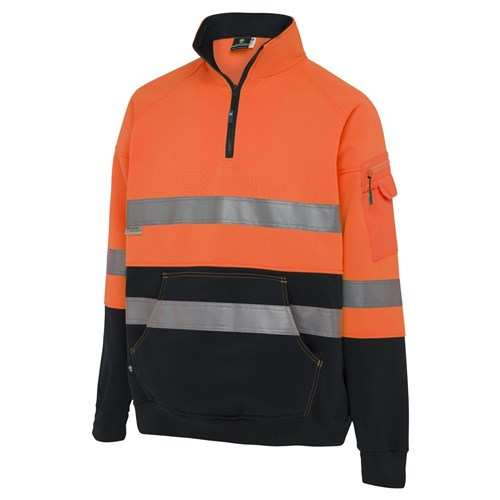WS Workwear Hi-Vis Fleece Jumper with Reflective Tape