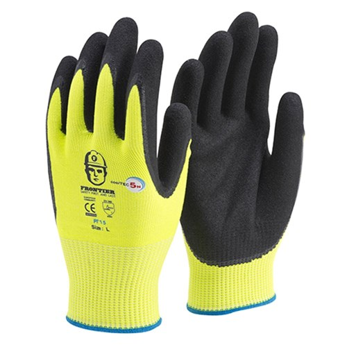 Frontier Cooltec5n Nitrile Cut Resistant Work Gloves Level 5